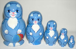 Russian Blue Cat Dolls